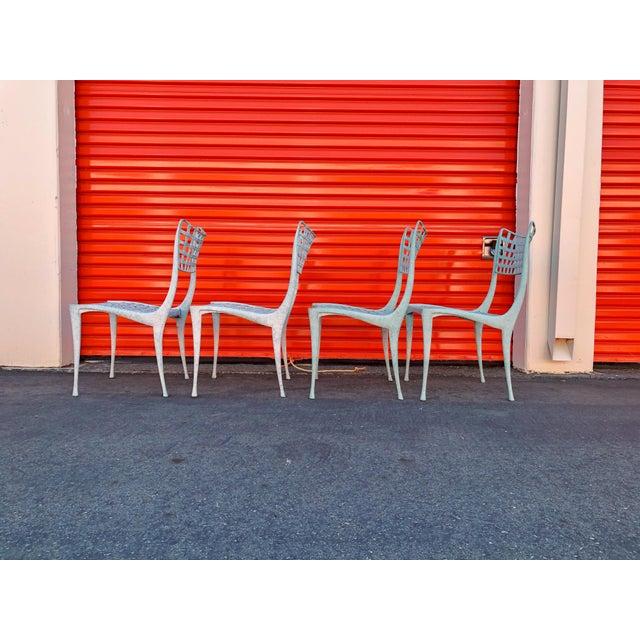 Dan Johnson Brown Jordan Sol Y Luna Patio Chairs - Set of 4 For Sale - Image 11 of 12