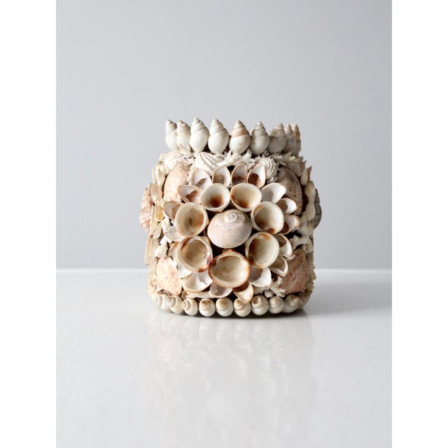 Early 20th Century Vintage Seashell Vase For Sale - Image 5 of 12