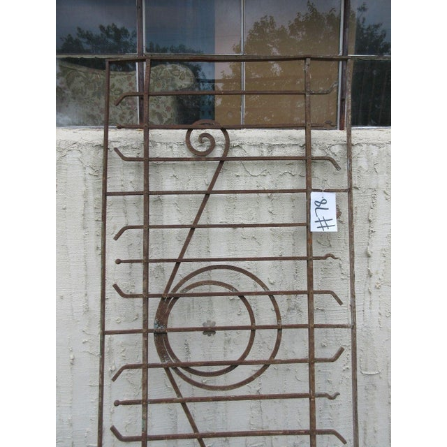 Antique Victorian Iron Gate or Garden Fence Element For Sale - Image 4 of 7
