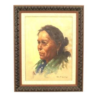 American Native American Portrait For Sale