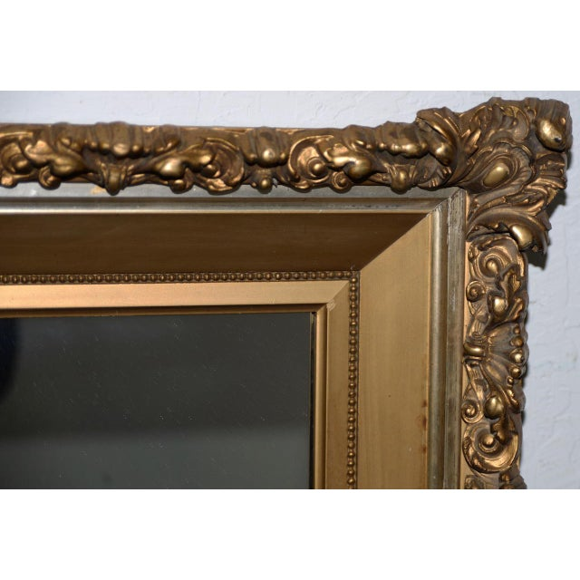 Traditional Elaborate 19th Century Carved & Gilded Frame with Mirror C.1890s For Sale - Image 3 of 8