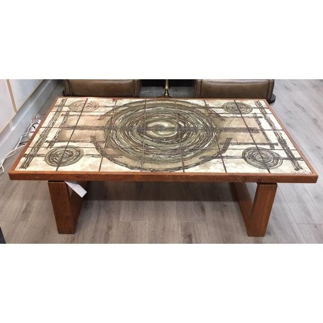 Green Danish Tile/Teak Coffee Table For Sale - Image 8 of 8