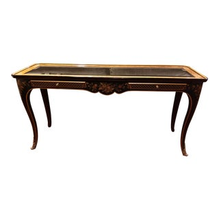 1980s Chinoiserie Drexel Heritage Console Table For Sale