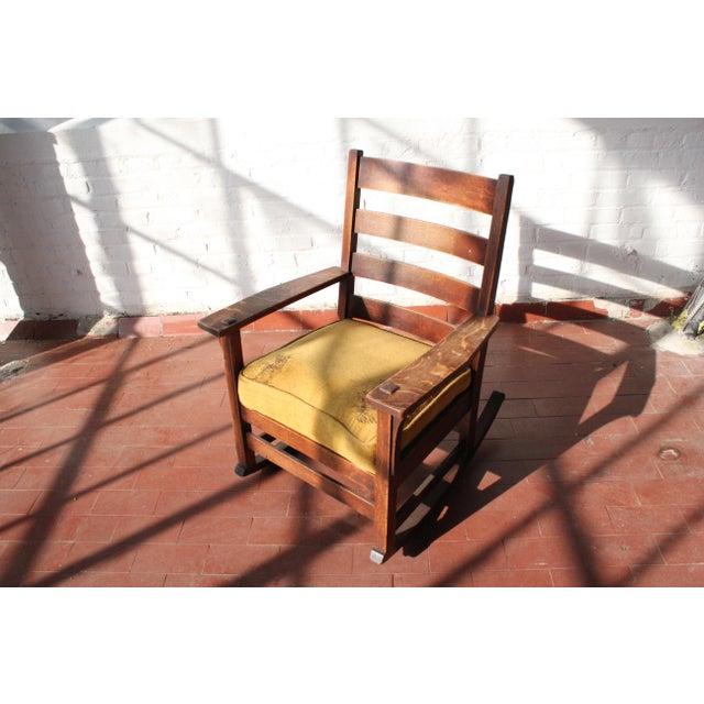 L. & J.G. Stickley, Inc. 1900s Antique L & Jg Stickley Rocking Chair For Sale - Image 4 of 12