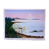 Image of Seascape Watercolor Painting by Cameron O'Neal For Sale
