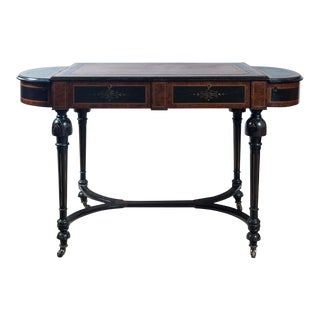 20th Century English Traditional Mahogany Writing Table For Sale