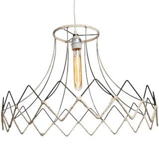 Vintage Lampshade Frame Pendant Light