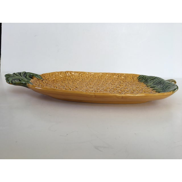 Late 20th Century Large Olfaire Pineapple Shaped Platter Made in Portugal For Sale - Image 5 of 10
