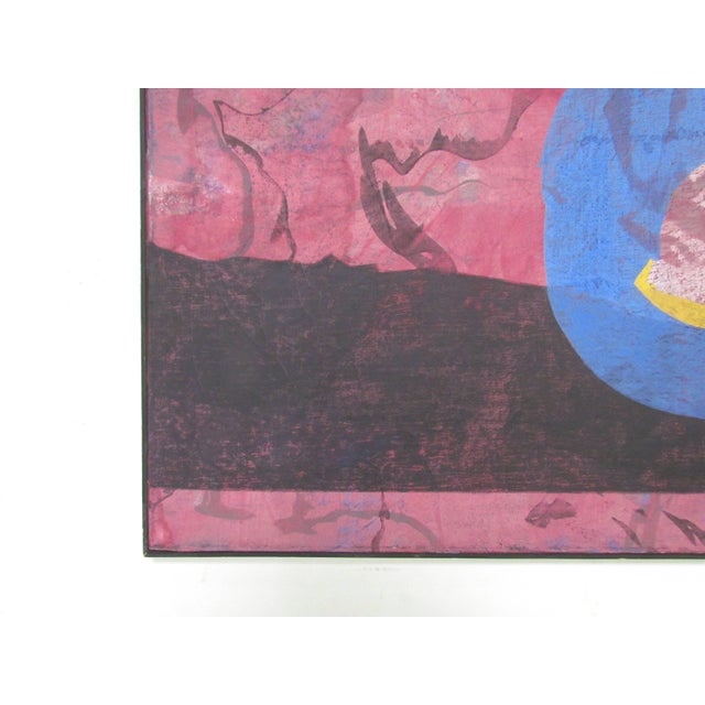 Canvas Abstract Modernist Painting by French Artist Jeanick Bouys For Sale - Image 7 of 10