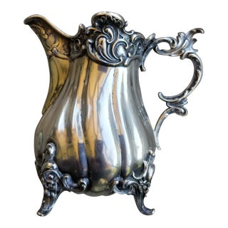 Wilkens Solid Silver Creamer or Pitcher For Sale