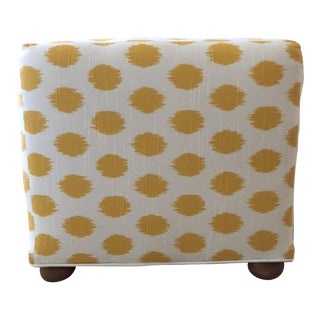 Contemporary Yellow Polka Dot Cube Ottoman For Sale