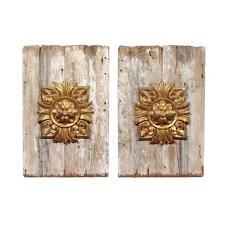 19-C. French Gilt Panels, Pair For Sale