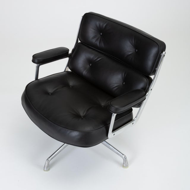 Herman Miller Black Leather Time Life Lobby Chair by Ray and Charles Eames for Herman Miller For Sale - Image 4 of 13