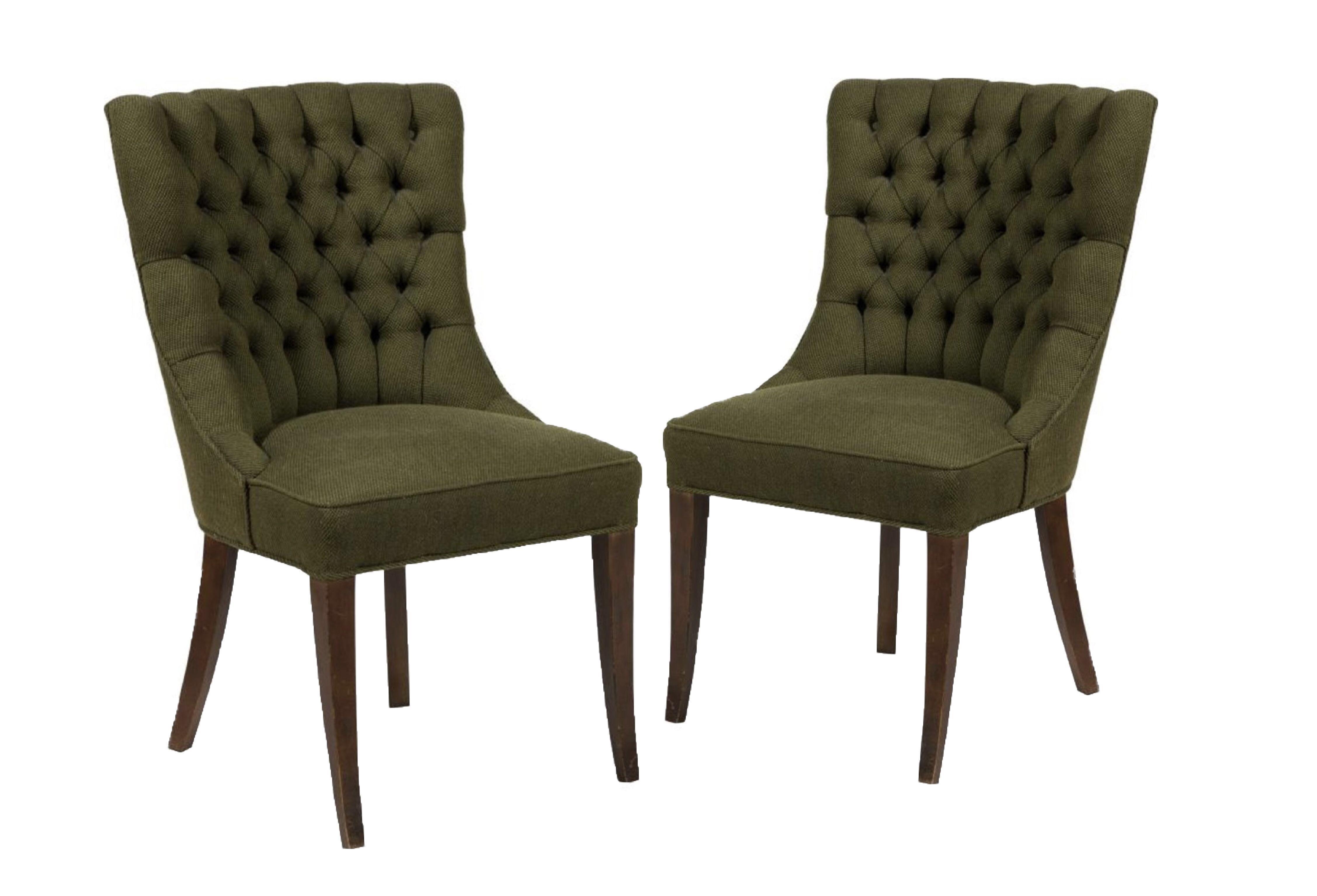 Merveilleux John Stuart Tufted High Back Chair