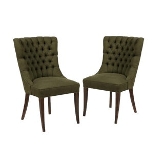 John Stuart Tufted High Back Chairs - Set of 2
