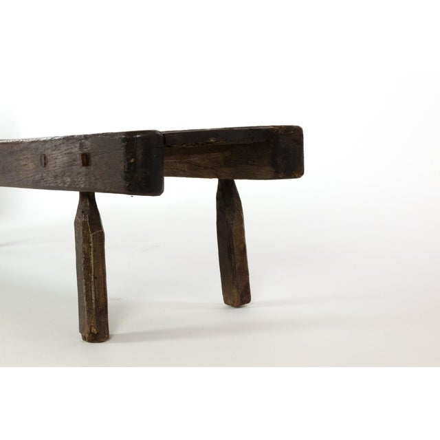 Low Rustic Oak Bench, English Circa 1860 For Sale In San Francisco - Image 6 of 7
