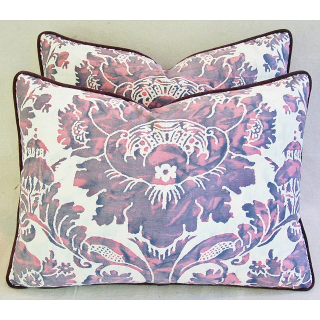 Designer Italian Fortuny Vivaldi Pillows - A Pair - Image 2 of 11