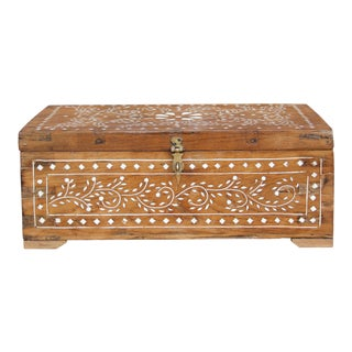 Petite Anglo Indian Bone Inlay Box For Sale