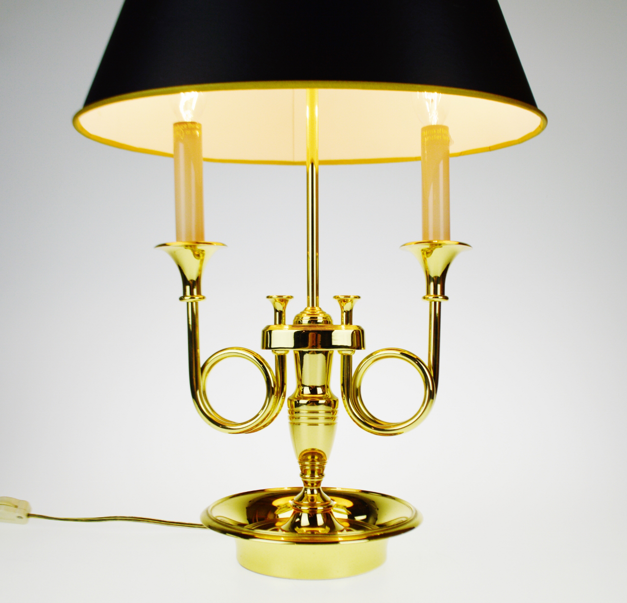 Vintage Baldwin Brass Candlestick Table Lamp   Image 4 Of 11