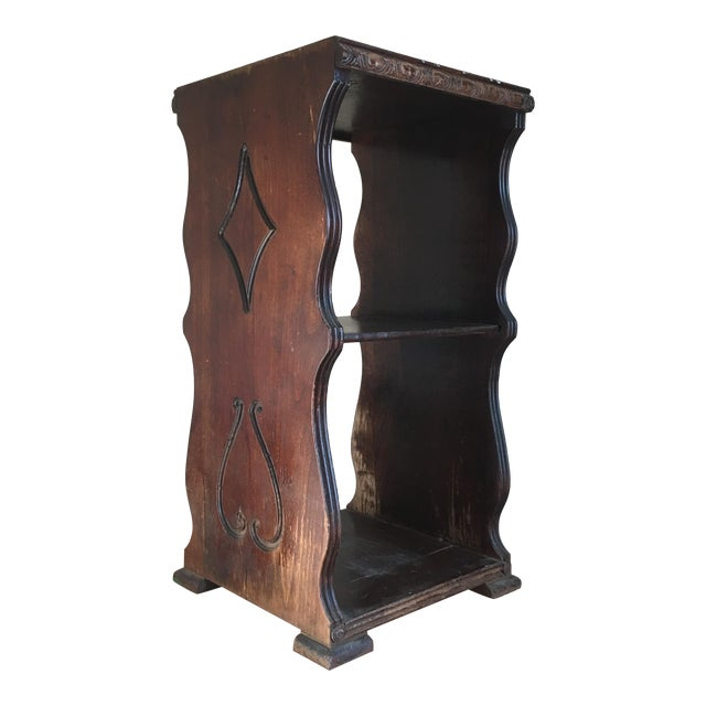 Antique Wooden Telephone Stand For Sale
