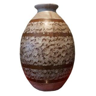 1920s Boch Freres Keramis Stoneware Vase For Sale