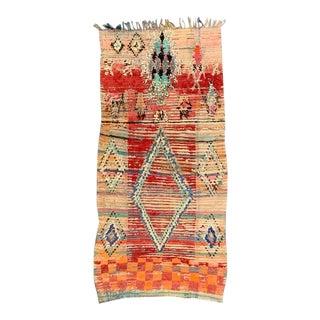 Vintage Moroccan Berber Rug-3′11″ × 7′11″ For Sale