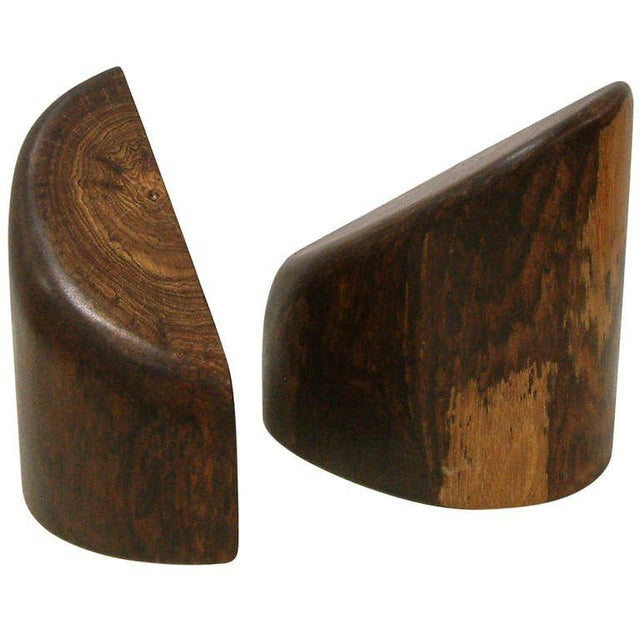 1960s Don Shoemaker Cocobolo Wood Bookends - a Pair For Sale - Image 10 of 10