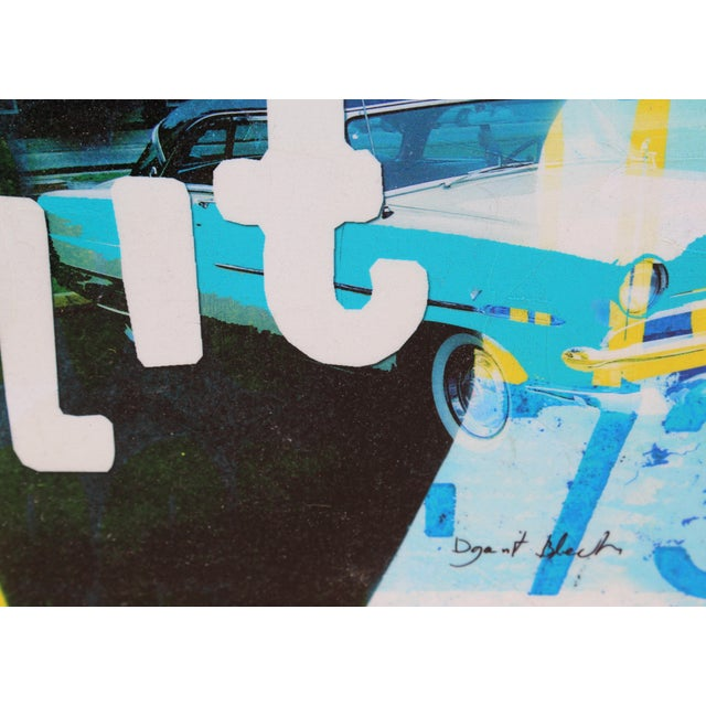 "Late 20th Century ""Steve McQueen - Bullit"" Screenprint on Canvas by Dganit Blechner For Sale - Image 5 of 6"