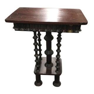 Table - Vintage Faux Grain Top Spool Table