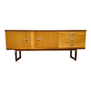 1960s Danish Modern Sleigh Sideboard For Sale