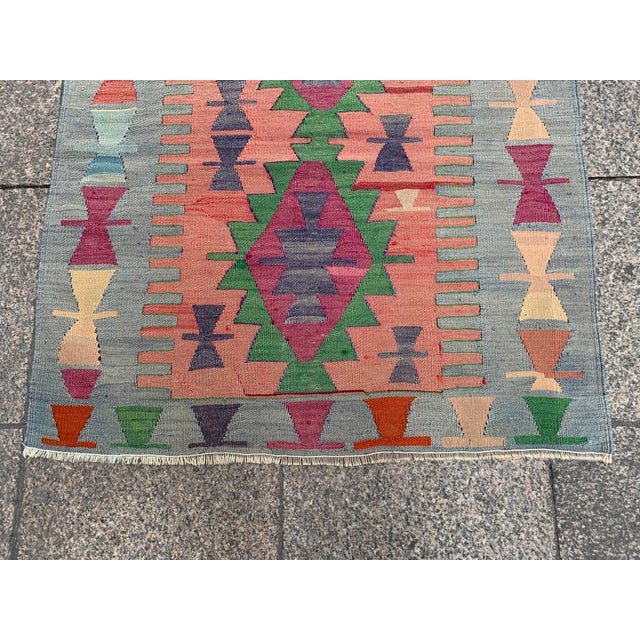 Islamic 1990s Wool on Wool Village Rug - 3′ × 3′7″ For Sale - Image 3 of 5