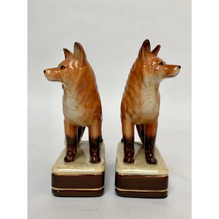 Staffordshire Style Fox Bookends – a Pair Preview