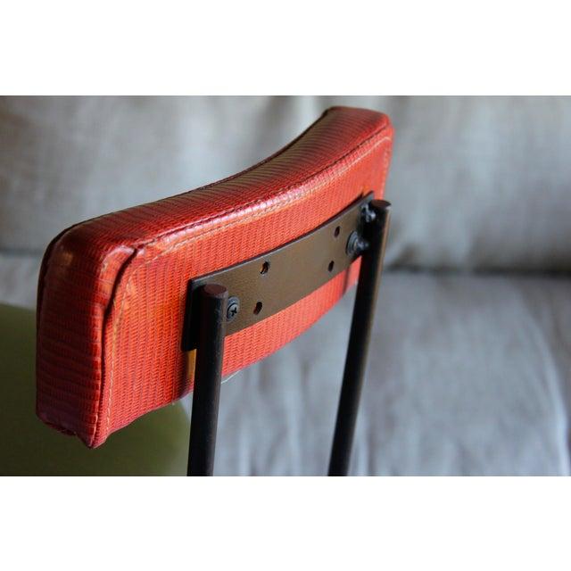 Mid Century Modern Italian Wrought Iron Adjustable Height Bar Stools Arthur Umanoff Style- a Pair For Sale In San Diego - Image 6 of 11