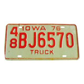 Vintage 1976 Iowa License Plate