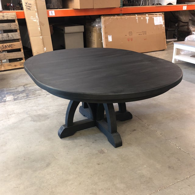 "This hooker dining table features an espresso finish with distinct grain. It comes with an 18"" leaf as well! The base is..."