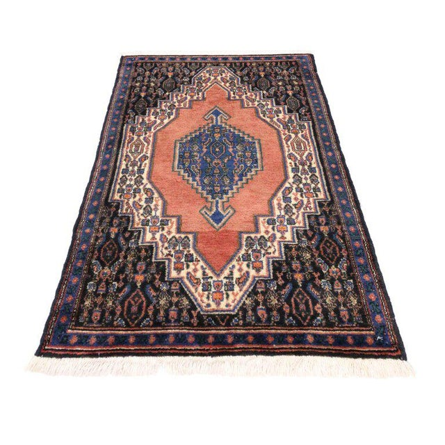 Abstract Vintage Sanadaj Persian Rug, Kitchen Rug, Foyer or Entry Rug, 02'02 X 03'07 For Sale - Image 3 of 6