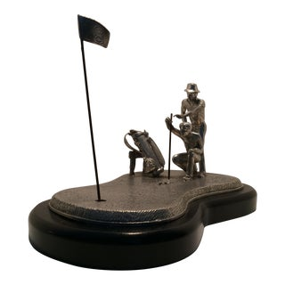 "Mullingar Pewter ""The Professionals"" Cast Golf Sculpture"