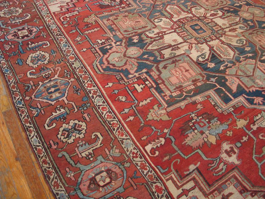 Antique Serapi Rug 9 8 15 4 Chairish