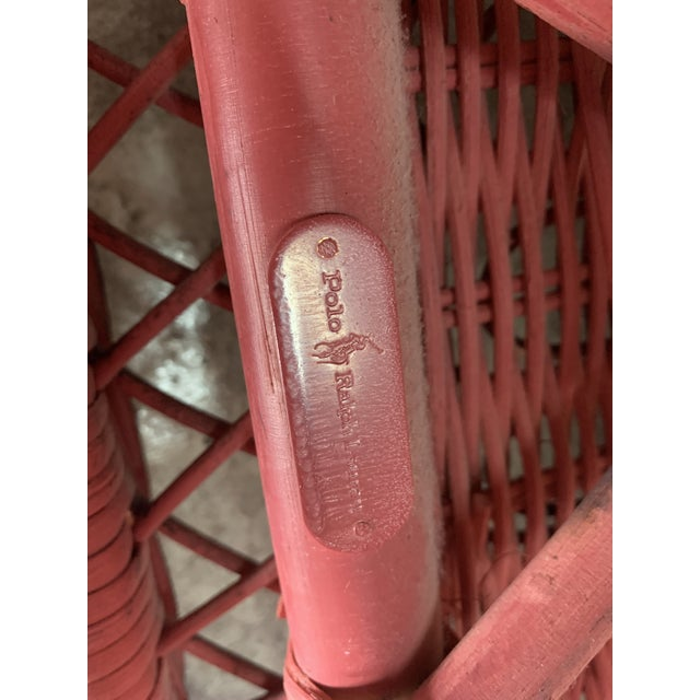 Polo Ralph Lauren Wicker Chair For Sale - Image 12 of 13