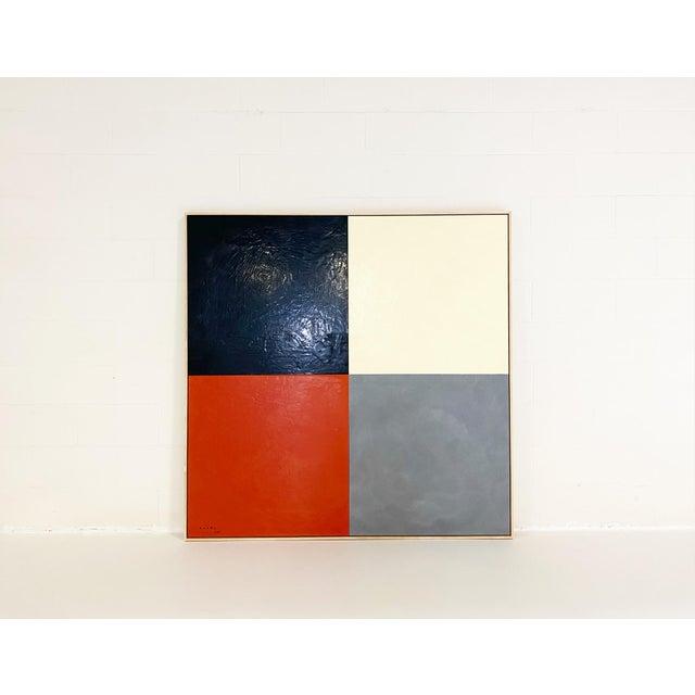 2020s John O'Hara. Square Dance, 3. Encaustic Painting For Sale - Image 5 of 6