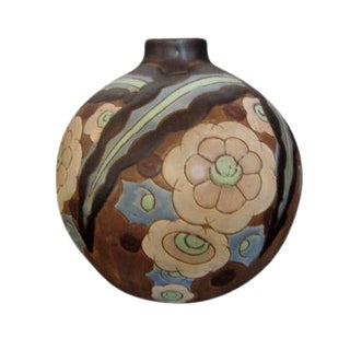 Boch Stoneware Vase For Sale