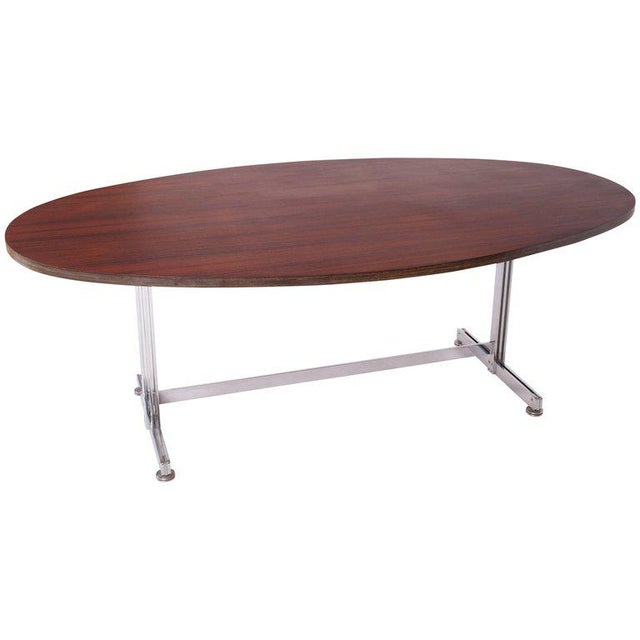 Jules Wabbes Oval Dining Table for Mobilier Universel For Sale - Image 9 of 9