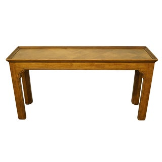20th Century Country Henredon Furniture Solid Oak Sofa Table For Sale