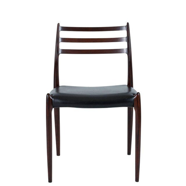 Mid-Century Modern Set of Six Niels Møller Dining Chairs Model #78 For Sale - Image 3 of 10