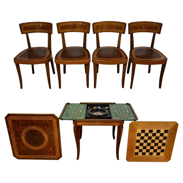 Italian Game Table Set For Sale