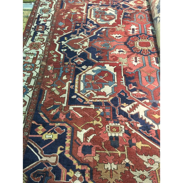 "Pasargad NY Antique Persian Serapi Rug - 9'8"" x 13'4"" For Sale In Washington DC - Image 6 of 8"