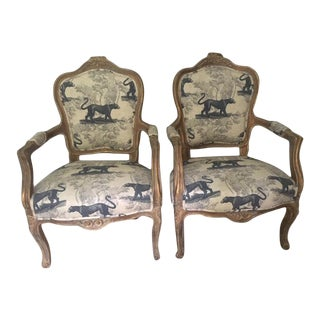 Vintage Bergere Chairs - a Pair For Sale