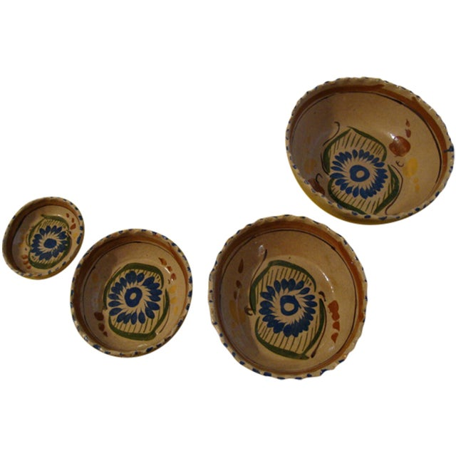 Mexican Tlaquepaque Nesting Bowls - Set of Four - Image 1 of 10