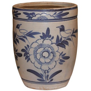 Blue & White Grain Pot For Sale