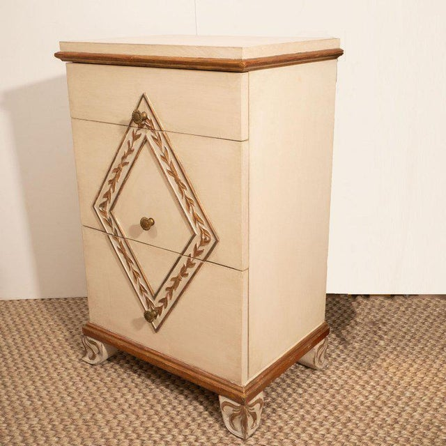 Pair of Directoire Style Painted Bedside Tables For Sale In New York - Image 6 of 9